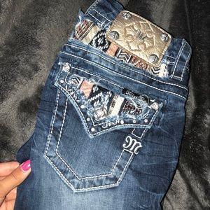 Skinny miss me blue jeans